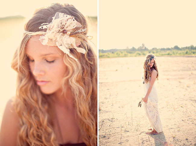 rustic chic hairpiece bride