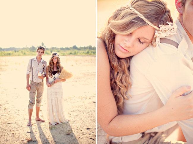 wheat bouquet bride