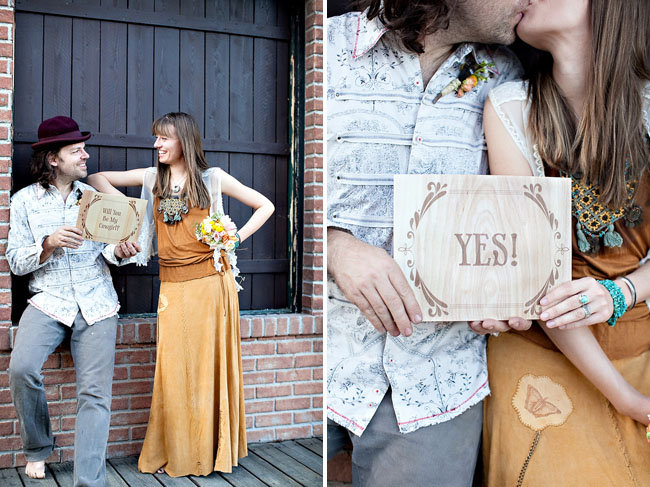 engagement photos yes sign