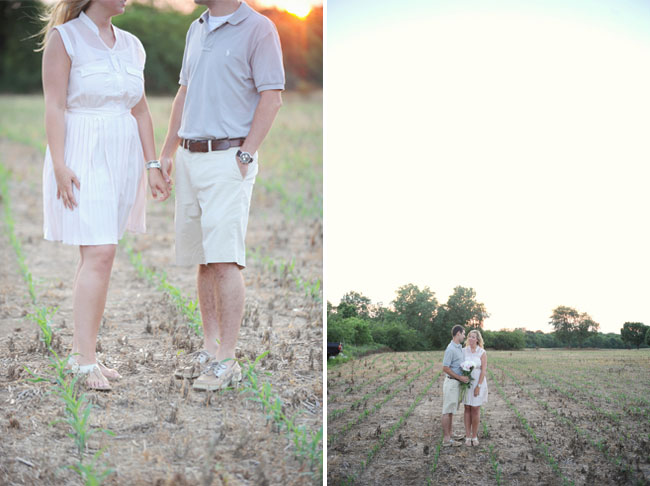 engagement photos in the garden