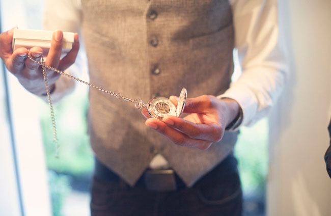 groom with stopwatch