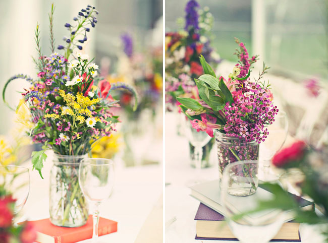 wildflowers wedding centerpieces