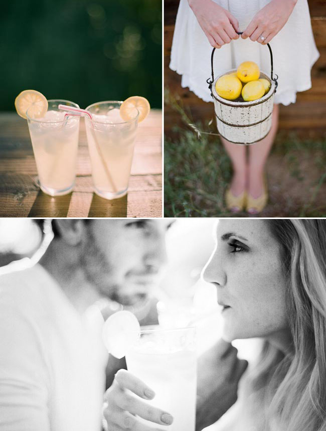 lemonade engagement photos