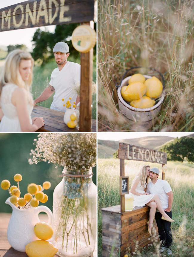 lemon engagement photos