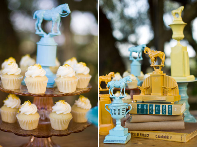 dessert table cupcakes trophies