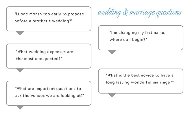 Marriage Answers Your Wedding Questions