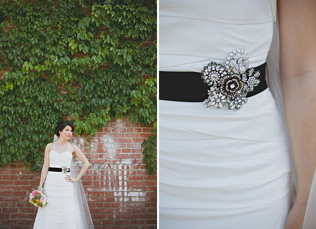 black belt wedding dress