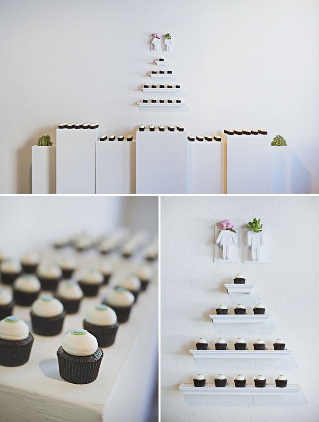 modern cupcake display