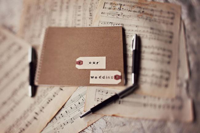 music wedding guestbook