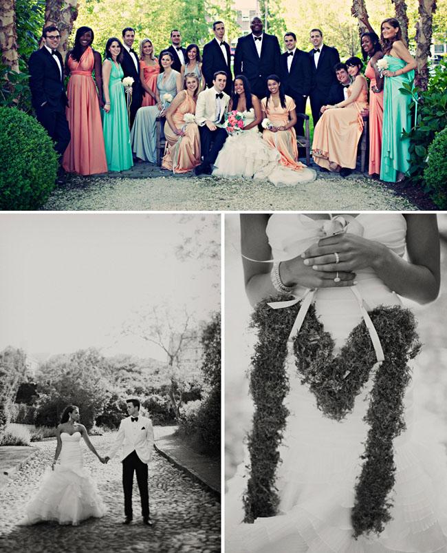 sherbet colored bridesmaids dresses