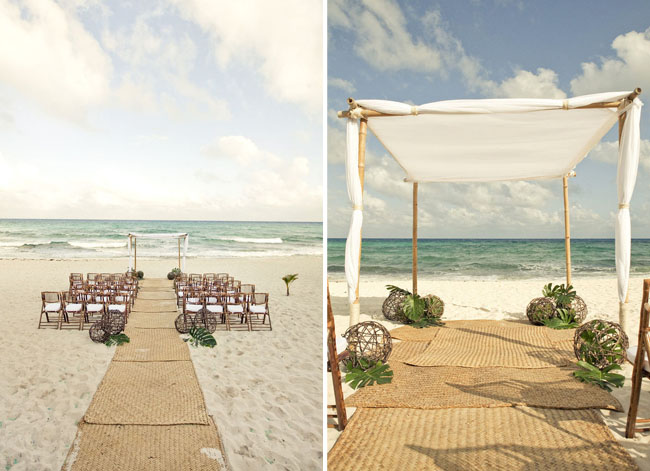 rustic beach ceremony