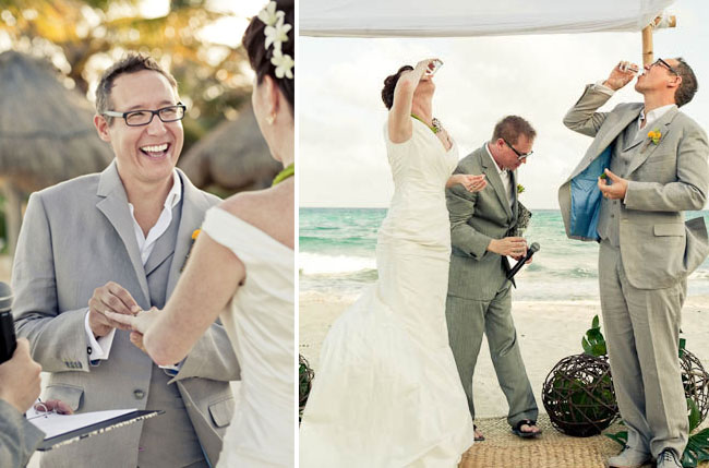 beach wedding shots
