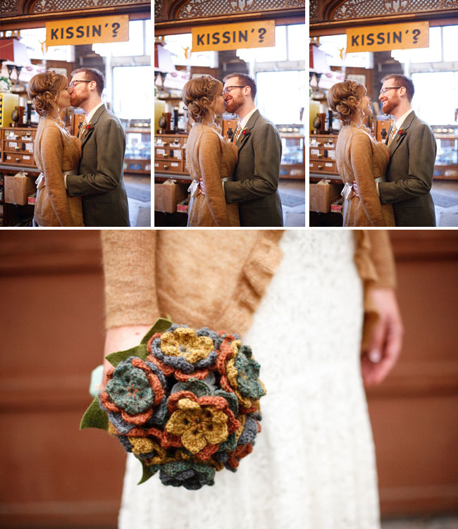 wedding bouquet made of yarn