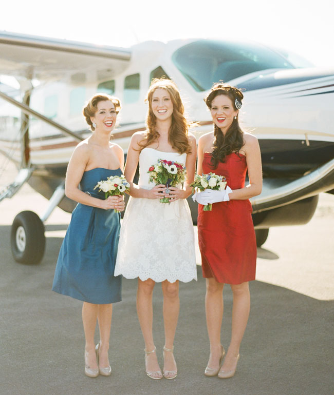 red white blue bridesmaids dresses