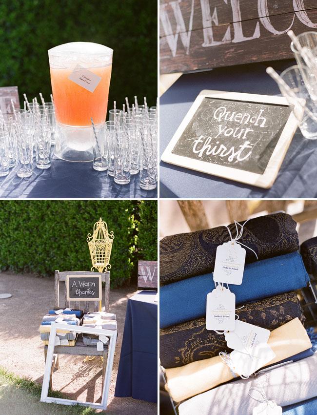 chalkboard at wedding