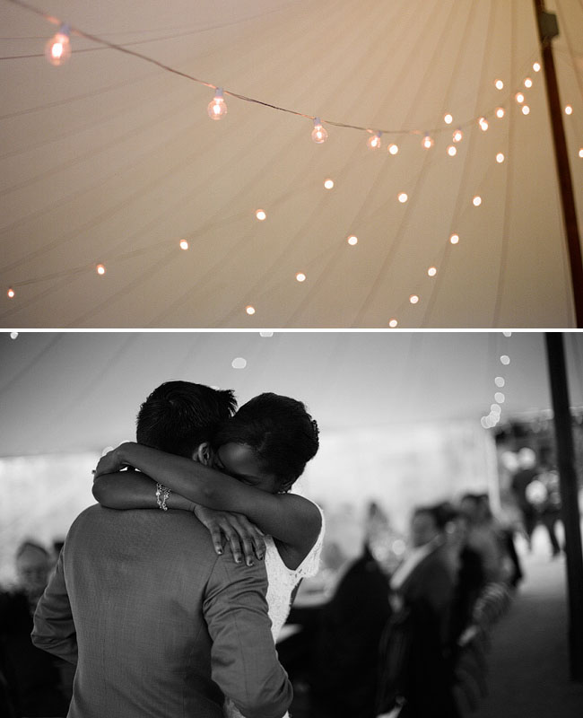 wedding dance in a tent