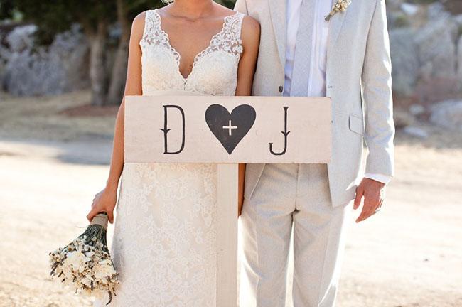 wedding sign wood