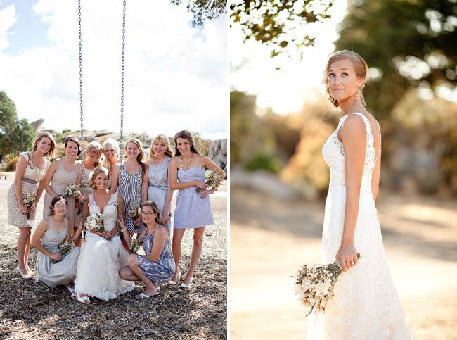Wedding Dresses California 58 Beautiful bridesmaids on swing