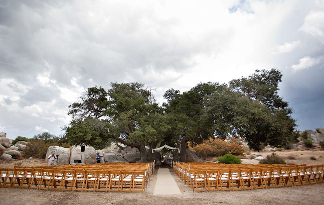 outdoor wedding ceremony ranch