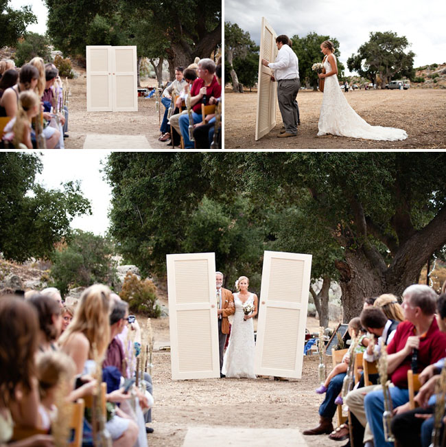 wedding ceremony doors for aisle entrance