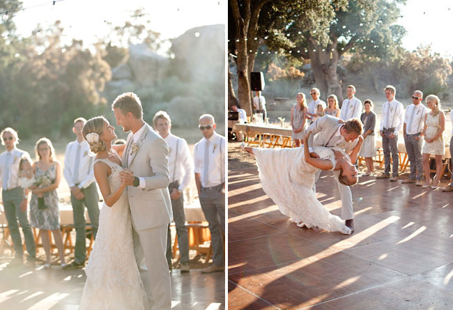 wedding dance outdoors
