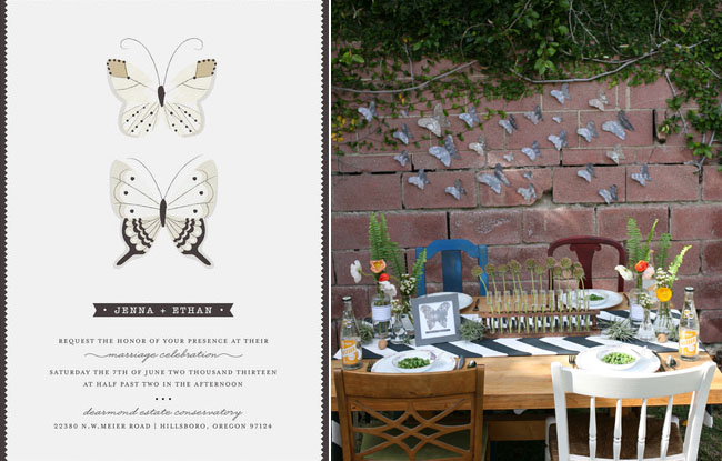 science wedding invitations