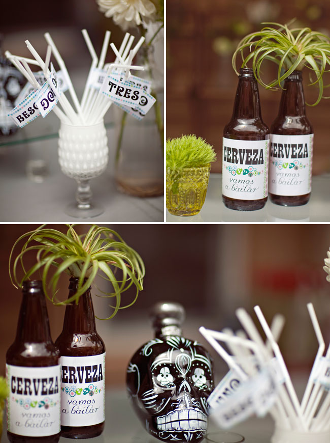 sombrero bridal shower beer labels