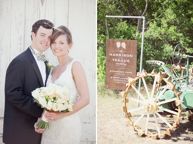 southern rustic wedding tractor