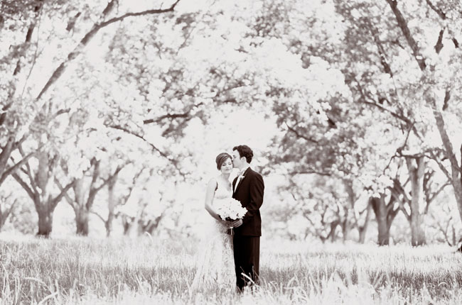 romantic wedding portraits in black and white