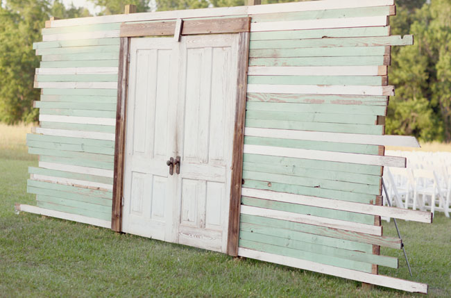 doors for outside wedding ceremony