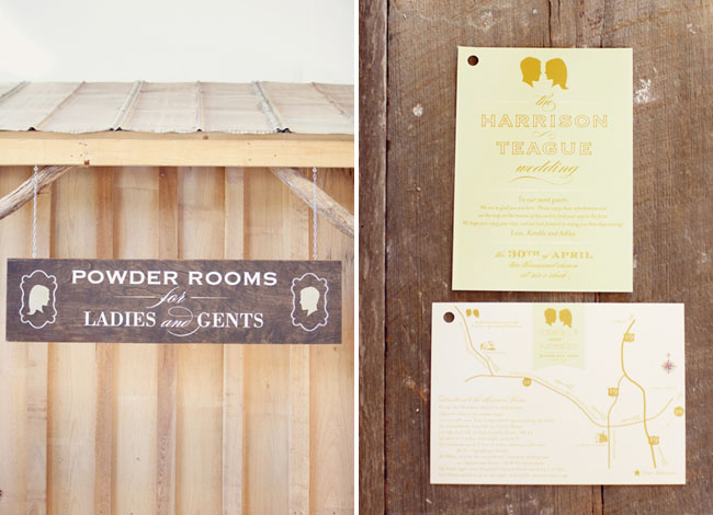 bathroom wedding sign