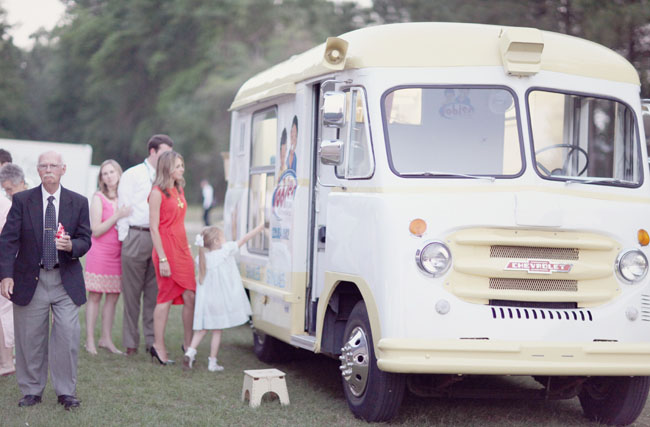 ice cream truck at wedding