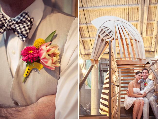 groom in bow tie