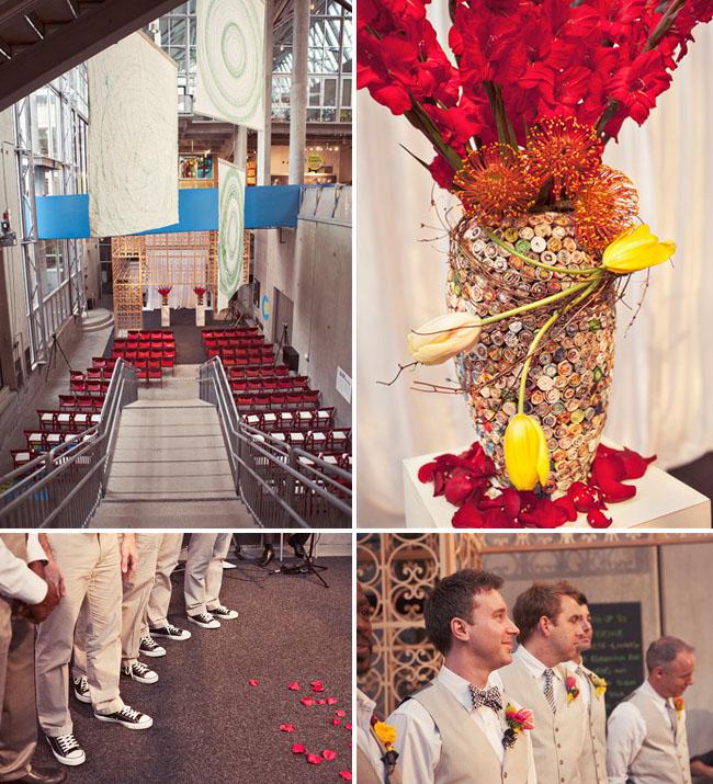 wedding at art museum