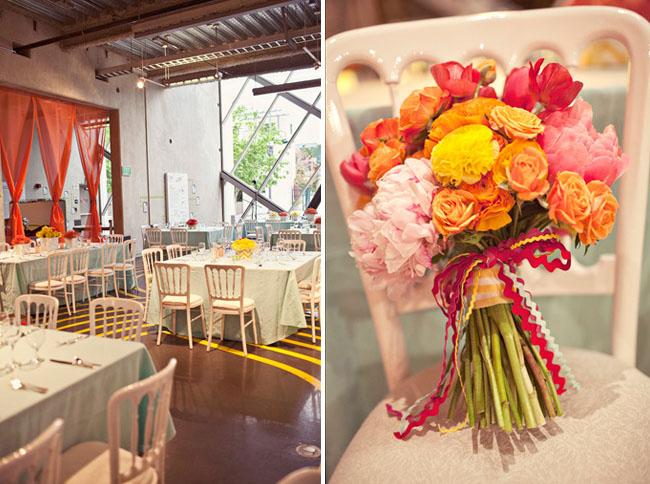 pink orange bouquet