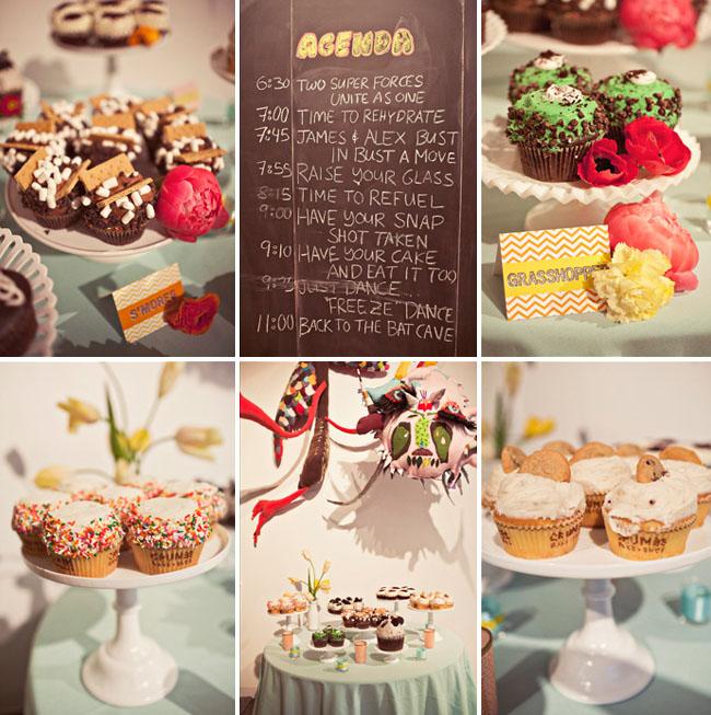 superhero wedding cupcakes