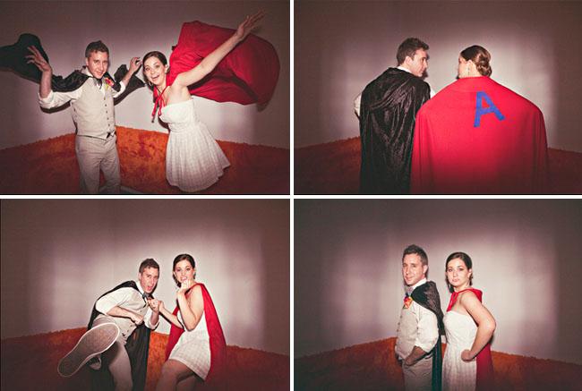 superhero wedding photobooth