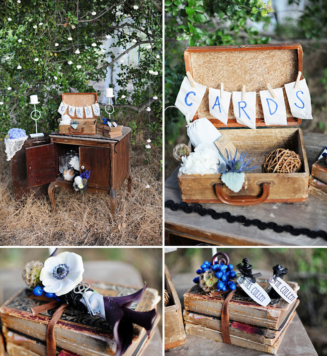 card box for wedding suitcase