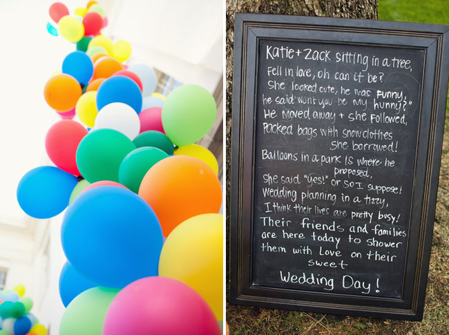 colorful balloons wedding
