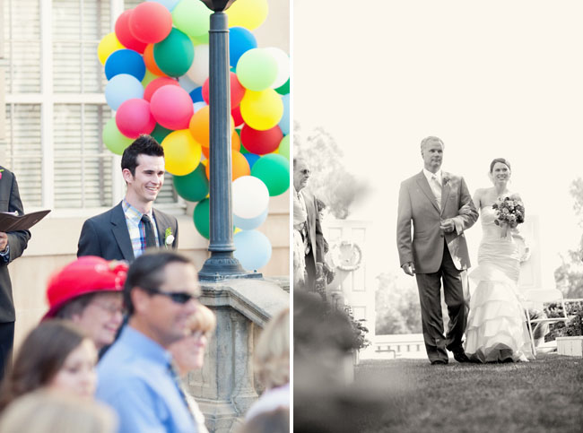 colorful balloon wedding
