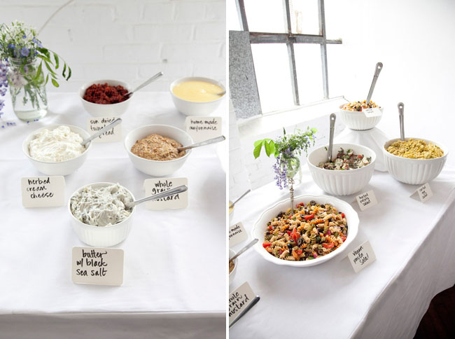 white food table