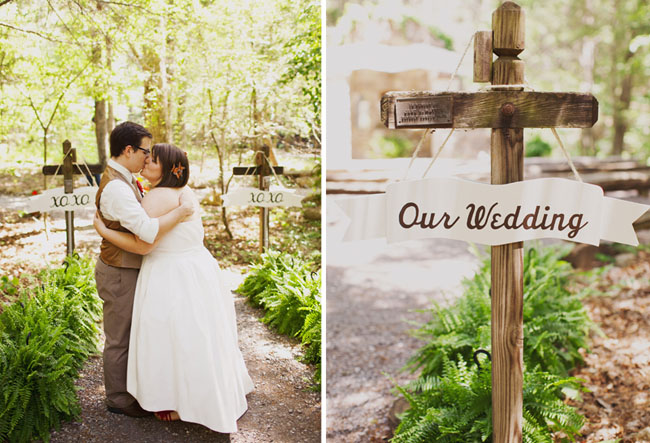 wedding outdoors in the woods