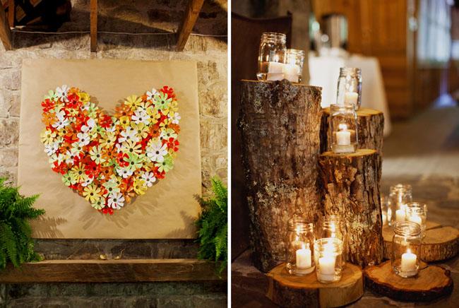 heart made of plastic water bottle flowers