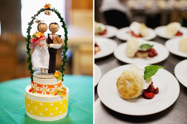 wedding cake topper strawberry shortcake