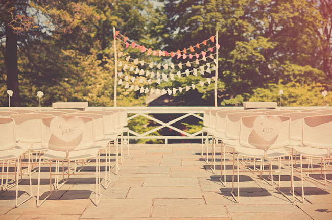 outdoor ceremony backdrop colorful