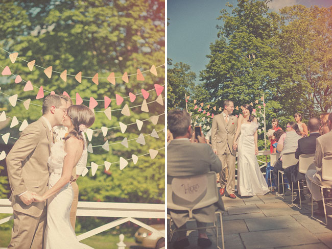 colorful outdoor wedding ceremony