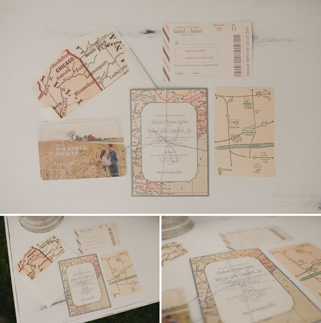 Wedding Invitations With Maps: A Whimsical Backyard Wedding: Rachael + Mike