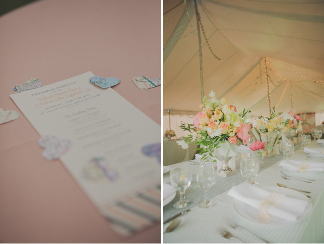 outdoor wedding under a tent