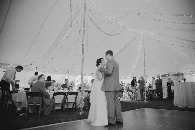 first dance under a tent