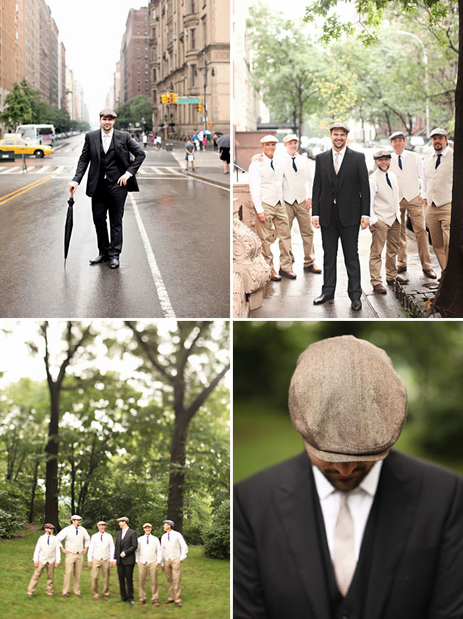Vintage look for groomsmen
